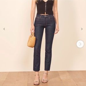 NWT Reformation Julia High Cigarette Jean Size 25